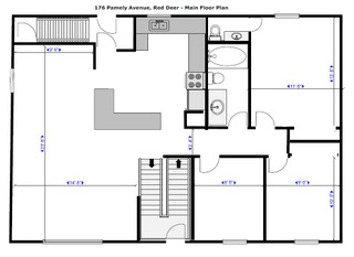 Red Deer - main floor plan