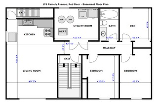 Red Deer - lower floor plan